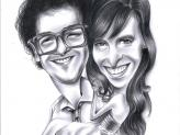 Caricaturista para casamentos - Mr. Milk