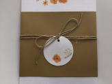 Convite Orange Flowers - Papel de Lustro