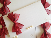 Convite de casamento - Papel de Lustro