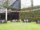 Jardim interior, com 600 m2 (capacidade para 250 pessoas sentadas) - Encantos de Coimbra