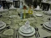 Mesa de um jantar de natal 2019 - Encantos de Coimbra