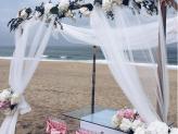 Decoração cerimonia na Praia - Arco Íris