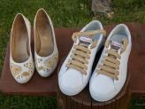Namorarte Peonia e Hibisco dourados - Namorarte