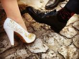 Sapato Namorarte Flor de Laranjeira Dourado - Namorarte