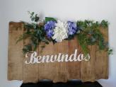 Placa personalizada para entrada da quinta/cerimónia - Vânia Pascoal