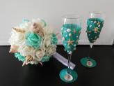"""Bouquets personalizados - Tema """"Mar"""" com glamour - Vânia Pascoal"""