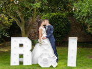 B&I em beijo junto às suas iniciais - Isilda Murteira Fotografia