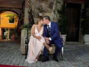 Noivos num beijo de amor - Isilda Murteira Fotografia