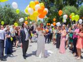 Chegada a quinta com uma largada - A.Veiga Casamentos Mágicos