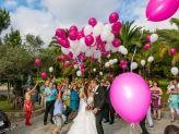 Largada de Balões na chegada a quinta - A. Veiga Casamentos Mágicos