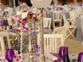 Quinta da Capela - pormenor decoração de mesa tom roxo - Quinta da Capela
