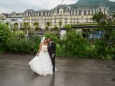 """Foto de """"O Tripé Fotografia"""" de noivos a casarem na Suiça no Montreux Palace - Foto O Tripé"""