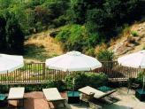 Vista da piscina - Pousada Convento Belmonte